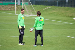 Goalkeeper Christofer Heimeroth and Yann Sommer Stock Photos