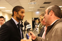 Goalkeeper David James gives post-match interview Royalty Free Stock Photo