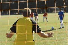 Goalkeeper defending royalty free stock images