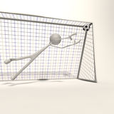 Goalkeeper extended Stock Images