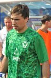 Goalkeeper of FC Metallurg team Stock Photos