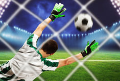 Goalkeeper on the field Royalty Free Stock Image