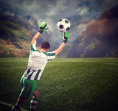 Goalkeeper on the field Stock Photography