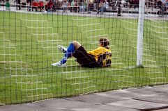 The goalkeeper in a gate royalty free stock photo