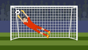 Goalkeeper in the gate. Royalty Free Stock Photo