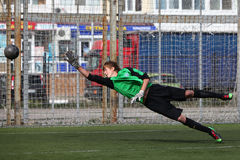 Goalkeeper on gates Royalty Free Stock Photography