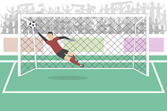 Goalkeeper in the gates. Stock Photos