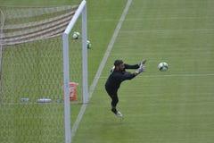 The goalkeeper Gianluigi Donnarumma training in Guangzhou, China Royalty Free Stock Photos