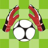 Goalkeeper glove Royalty Free Stock Photography