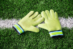 Goalkeeper Gloves Royalty Free Stock Images
