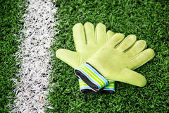 Goalkeeper Gloves stock image