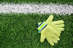 Goalkeeper Gloves royalty free stock image