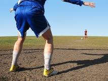 Goalkeeper in goal Stock Photos