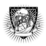 Goalkeeper helmet shield Stock Photography
