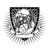 Goalkeeper helmet shield Stock Photography