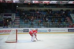 Goalkeeper of hockey club  Stock Photo