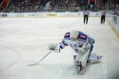 Goalkeeper of hockey club  Stock Images