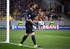 Goalkeeper Iker Casillas of FC Porto. KYIV, UKRAINE - SEPTEMBER 16, 2015: Goalkeeper Iker Casillas of FC Porto in action during UEFA Champions League game royalty free stock photography