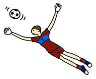 Goalkeeper illustration Royalty Free Stock Photography
