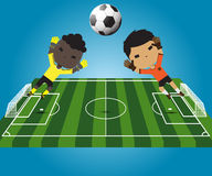 Goalkeeper  illustration Stock Photos