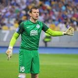 Goalkeeper Jan Lastuvka of FC Dnipro Royalty Free Stock Photos
