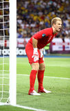 Goalkeeper Joe Hart of England in action Royalty Free Stock Photo