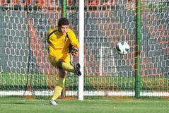 Goalkeeper kick a ball Royalty Free Stock Image