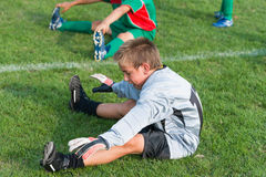 Goalkeeper kids football Royalty Free Stock Photo