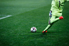Goalkeeper knocks the ball Royalty Free Stock Image