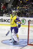 Goalkeeper Kostyantyn Simchuk of Ukraine Royalty Free Stock Images