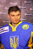 Goalkeeper Kostyantyn SIMCHUK of Ukraine Royalty Free Stock Photography