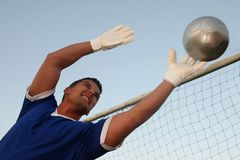 Goalkeeper Making a Save royalty free stock images