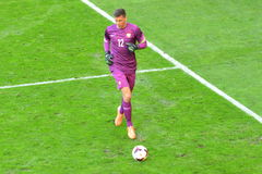 Goalkeeper of the National Team of Poland Wojciech Szczesny during friendly soccer match versus Lithuania Stock Photo