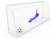 Goalkeeper not catches a soccer ball  #3 Stock Photo