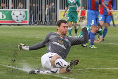Goalkeeper Oleksandr Rybka of Obolon Kyiv Royalty Free Stock Image