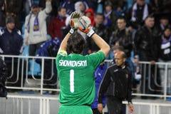 Goalkeeper Oleksandr Shovkovskyi of Dynamo Kyiv Stock Photo