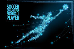 Goalkeeper poly soccer vector illustration