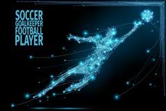 Goalkeeper poly soccer Stock Image