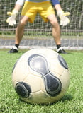 Goalkeeper is in position Royalty Free Stock Images