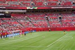 Goalkeeper practice Stock Photography