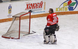 Goalkeeper Przemyslaw Odrobny of Poland Royalty Free Stock Photo