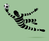 Goalkeeper with a ribbon. Stock Images