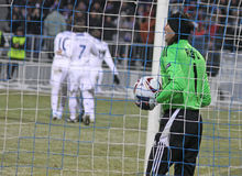 Goalkeeper Rustu Recber of Besiktas Royalty Free Stock Photography