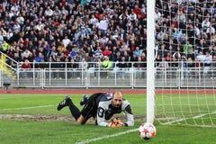 Goalkeeper's saving Royalty Free Stock Image