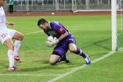 Goalkeeper's saving stock photography