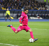 Goalkeeper Salvatore Sirigu of Paris Saint-Germain Royalty Free Stock Photos