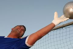 Goalkeeper Saving Ball Royalty Free Stock Photo