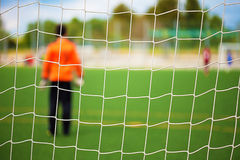 Goalkeeper with selective focus Stock Image