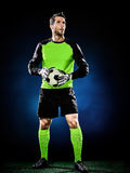 Goalkeeper soccer man  Royalty Free Stock Photography