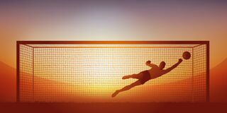 Free Goalkeeper Stoppage During A Football Match Royalty Free Stock Photo - 212811295